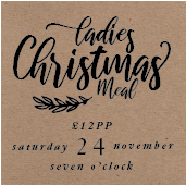 Ladies Christmas Meal*24th November*Click to book tickets